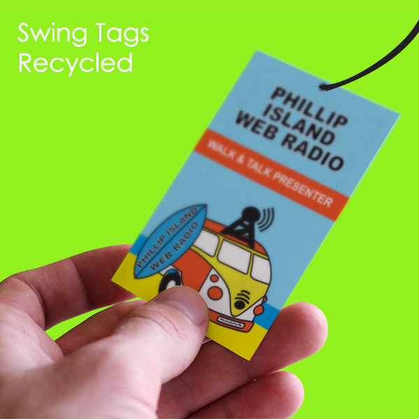 swing tag recycled
