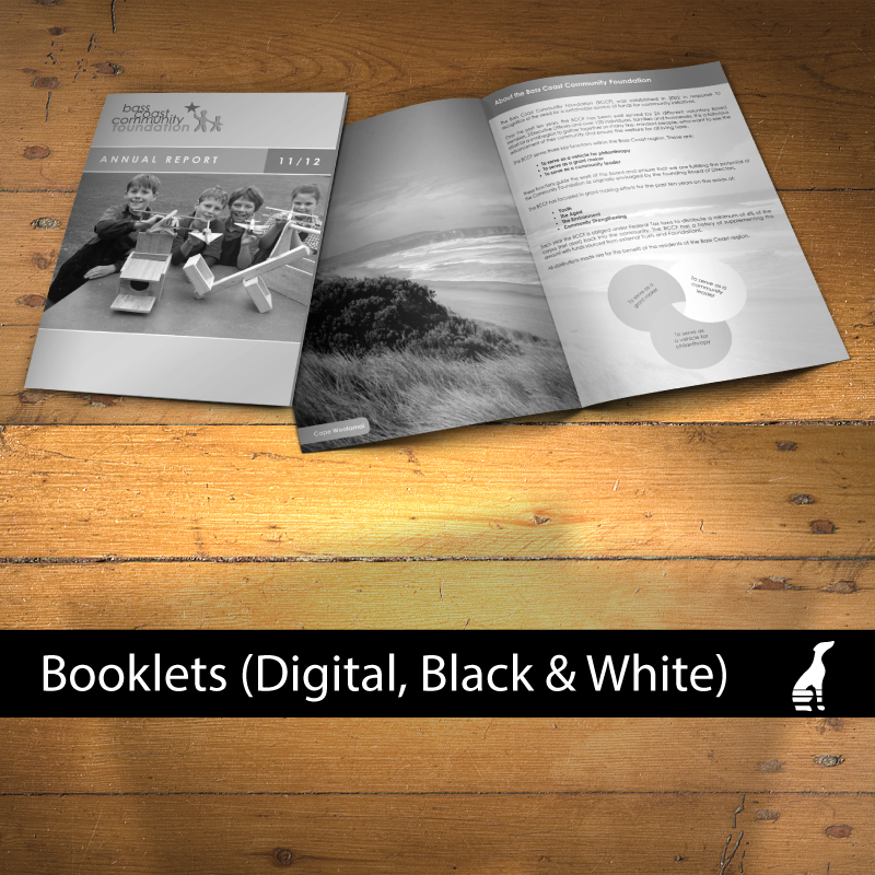Booklets (digital, Black & White)