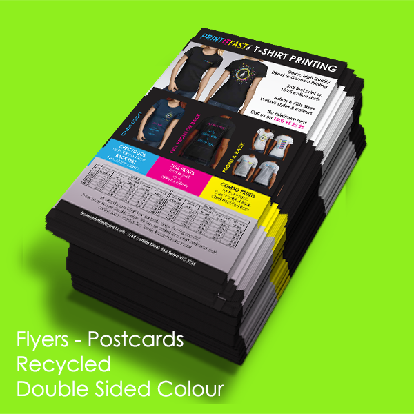 Flyers - Postcards - Recycled - Double Sided Colour