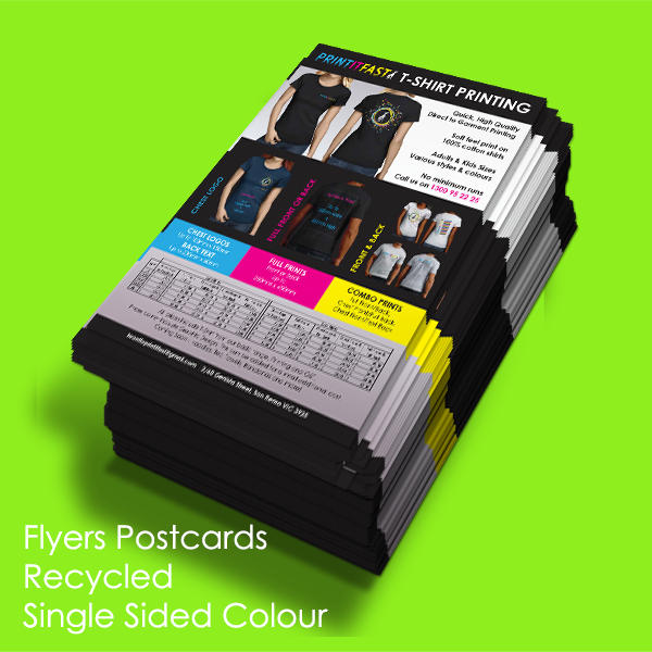 Flyers - Postcards - Recycled - Single Sided Colour