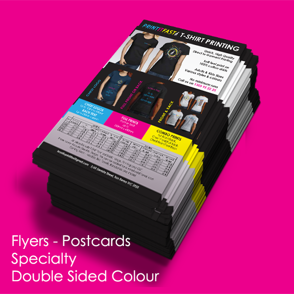 Flyers - Postcards - Specialty - Double Sided Colour