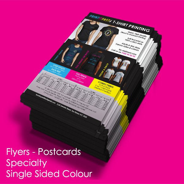 Flyers - Postcards - Specialty - Single Sided Colour