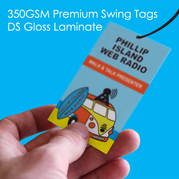 Premium 350 Gloss 2 Sides Swing Tag