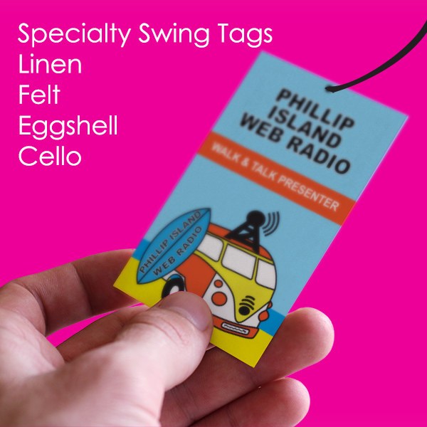 Specialty Swing Tag